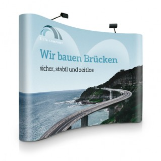 Popup Display curved