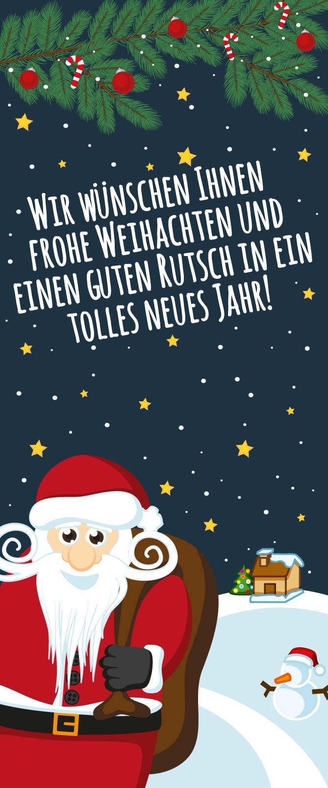 Der Weihnachtsmann bringt Geschenke